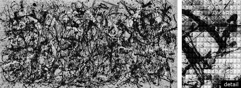 Alex Guofeng Cao ,   Pollock vs Pollock  ,  2012     chromogenic print with Dibond plexiglass ,  60 x 120 in. (152.4 x 304.8 cm)     AC130301