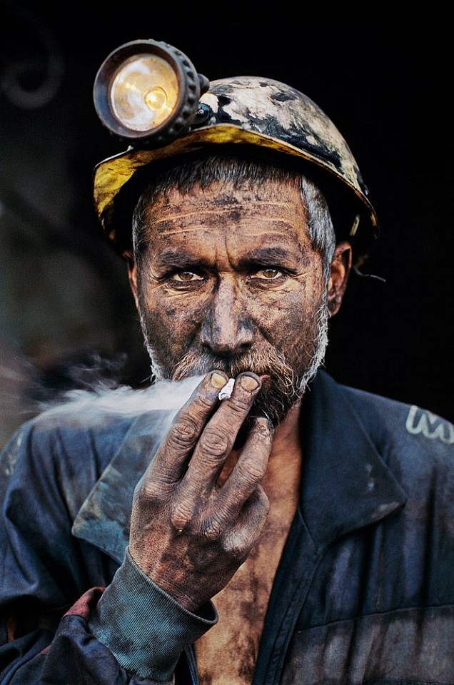 Steve McCurry ,   Smoking Coal Miner, Pol-e-Khomri, Afghanistan  ,  2002     FujiFlex Crystal Archive Print ,  24 x 20 in. (Inquire for additional sizes)     AFGHN-10143NF