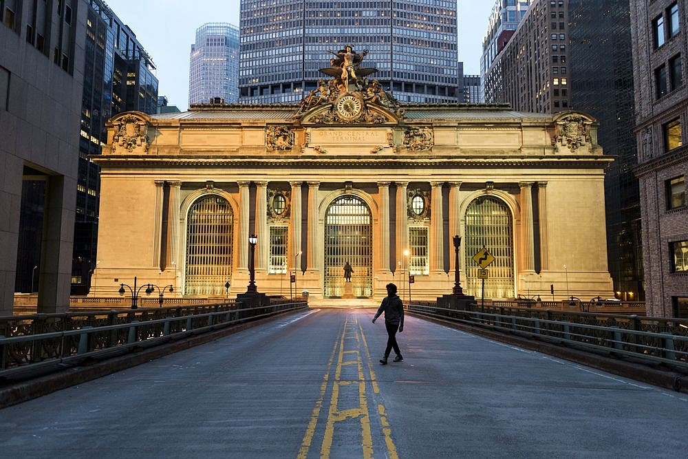 Steve McCurry ,   Man Walks in Front of Grand Central Terminal, New York, NY  ,  2016     FujiFlex Crystal Archive Print ,  40 x 60 in. (Inquire for additional sizes)     USA-11621