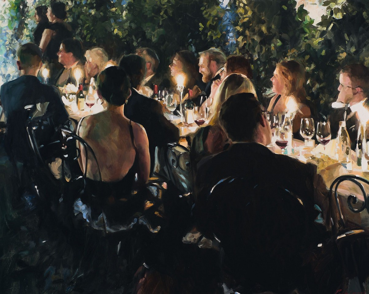 Paul Oxborough ,   Garden Party  ,  2020     oil on linen ,  40 x 50 in. (101.6 x 127 cm)     [SOLD]